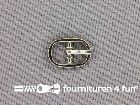 Metalen gesp 7mm zilver