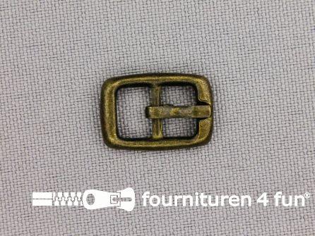 Metalen gesp 8mm brons