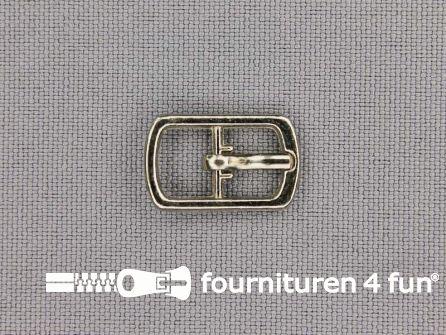 Metalen gesp 8mm zilver