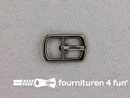 Metalen gesp 8mm zwart zilver