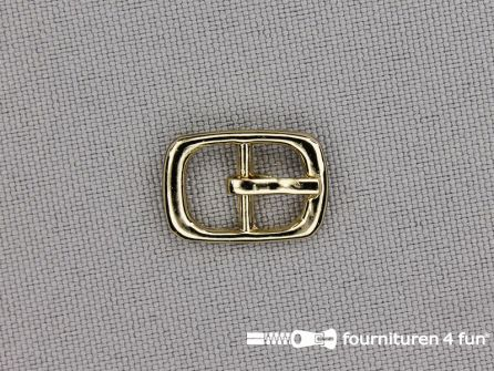 Metalen gesp 9mm goud