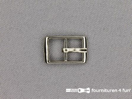 Metalen gesp 9mm zilver