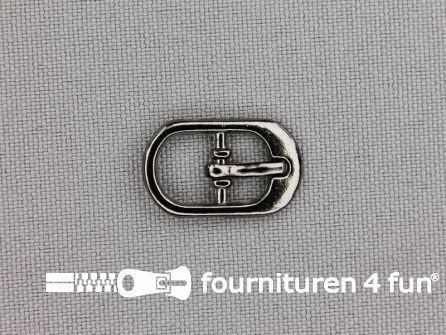Metalen gesp 9mm zwart zilver
