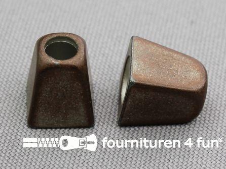 Metalen koord uiteinde 13x11mm rood brons