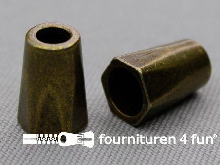 Metalen koord uiteinde 16mm brons