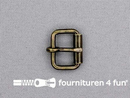 Metalen rolgesp 16mm brons