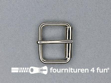 Metalen rolgesp 26mm zilver