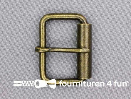 Heavy duty metalen rolgesp 40mm brons