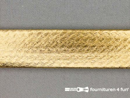 Rol 20 meter metallic biasband 20mm goud