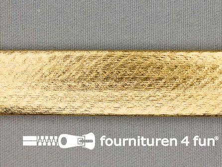 Metallic biasband 20mm goud