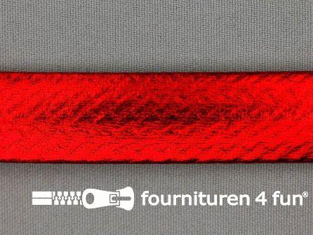 Rol 20 meter metallic biasband 20mm rood