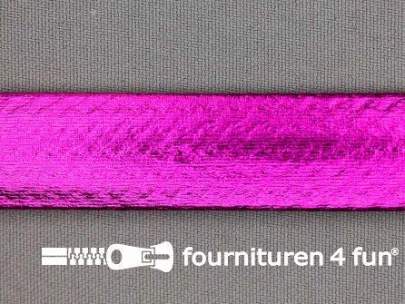 Rol 20 meter metallic biasband 20mm fuchsia