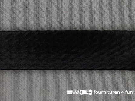 Rol 20 meter metallic biasband 20mm zwart