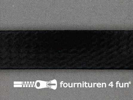 Metallic biasband 20mm zwart