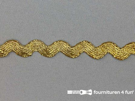 Zigzag band 12mm metallic licht goud