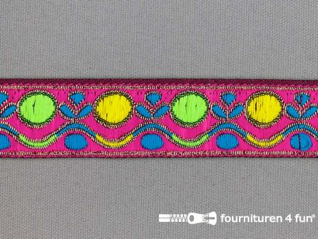 Modern band 25mm multicolor fuchsia - goud