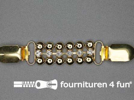 Mouwophouder met clips goud 130mm