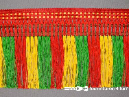 Multicolor franje 130mm rood geel groen