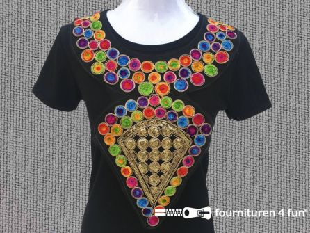 Opzet stuk voor hals / kraag multicolor
