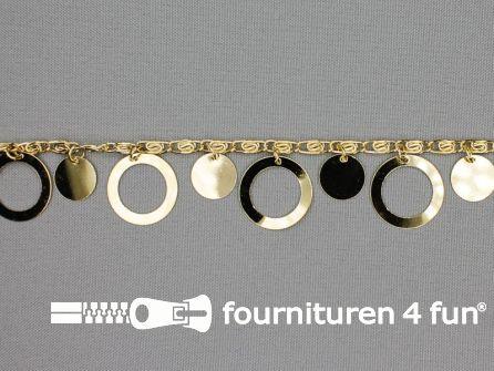 Muntenband - Sierketting - 25mm goud