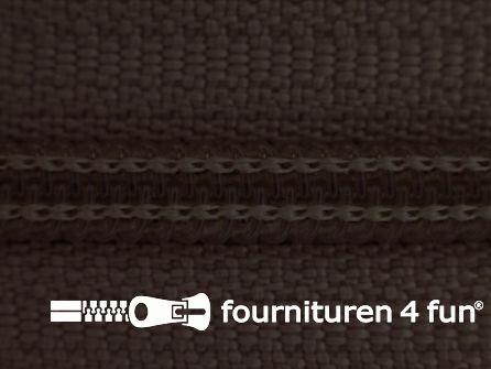 Niet deelbare broek rits nylon 4mm donker bruin