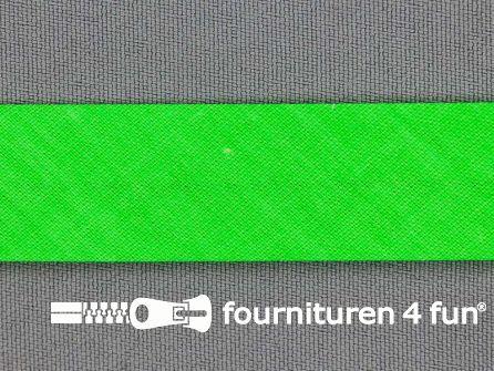Katoenen biasband 20mm neon groen