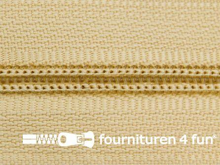 Niet deelbare nylon rits 3mm kenia beige