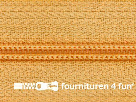 Niet deelbare nylon rits 3mm perzik beige