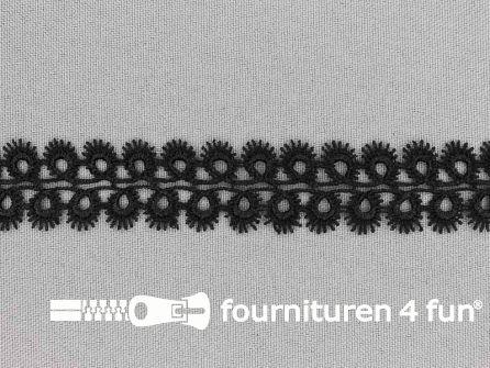 Nylon broderie 20mm zwart