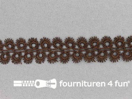 Nylon broderie 20mm bruin