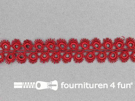Nylon broderie 20mm steen rood