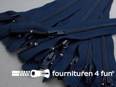 10 stuks nylon broek ritsen 18cm marine blauw