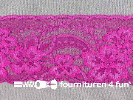 Nylon kant 68mm fuchsia roze
