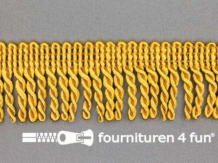 Goud franje grof 40mm oker goud