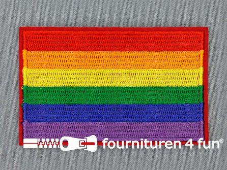 Applicatie 82x51mm regenboog vlag