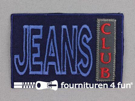 Applicatie 87x59mm 'Jeans Club'