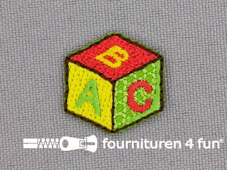 Applicatie 19x19mm ABC blok