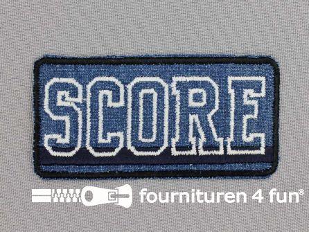 Applicatie 75x36mm 'Score' donker blauw