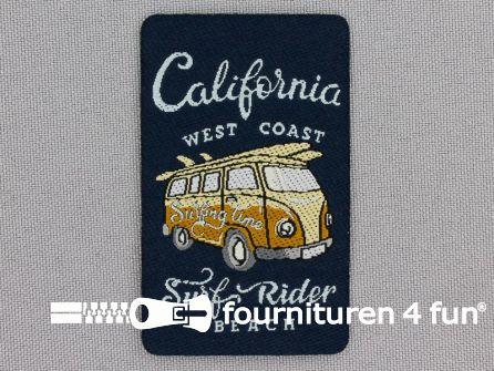 Applicatie 39x64mm 'California' - 'Surf Rider'