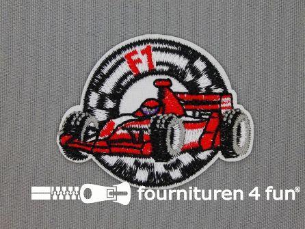 Applicatie 60x47mm raceauto Formule 1