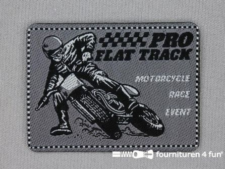 Stoere applicatie 69x52mm motorcycle