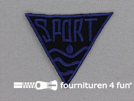 Applicatie 56x48mm 'Sport' marine blauw