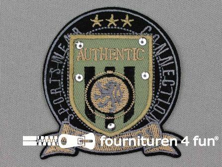 Stoere applicatie 70x70mm authentic - sportswear