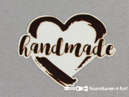 Applicatie 51x39mm 'Handmade'