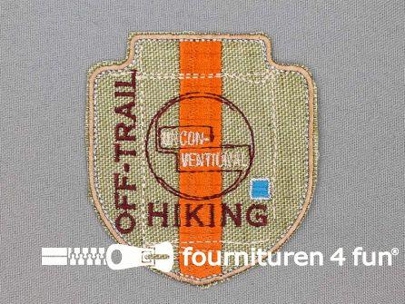 Stoere applicatie 70x77mm Hiking - Off-Trail
