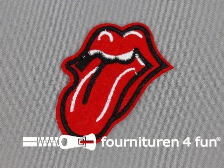 Applicatie 53x50mm tong Rolling Stones
