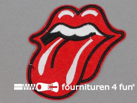 Applicatie 95x90mm tong Rolling Stones
