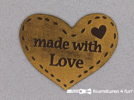 Applicatie 47x37mm 'made with Love'
