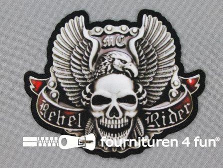 Stoere applicatie 90x75mm rebel rider