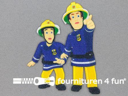 Applicatie 62x85mm brandweerman Sam